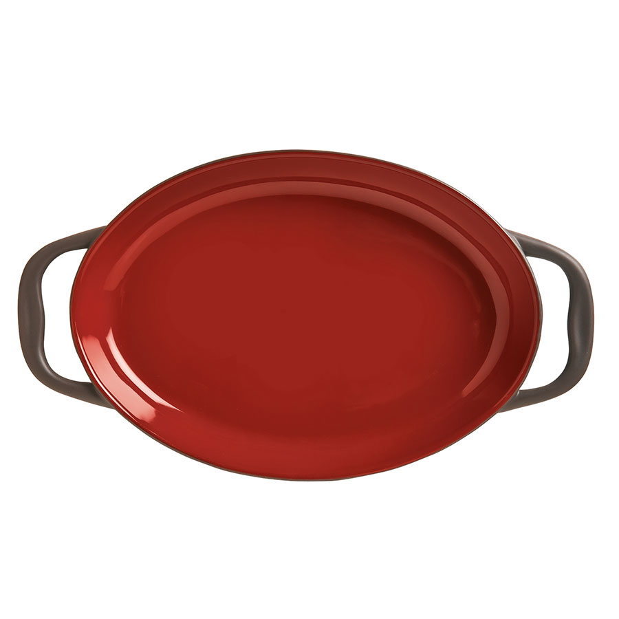 World Tableware CBC-002 11-oz Coos Bay Oval Tray with Handles - Ceramic, Chili