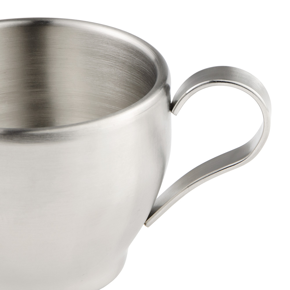 World Tableware CC100 7.25-oz Cappuccino Cup, Stainless