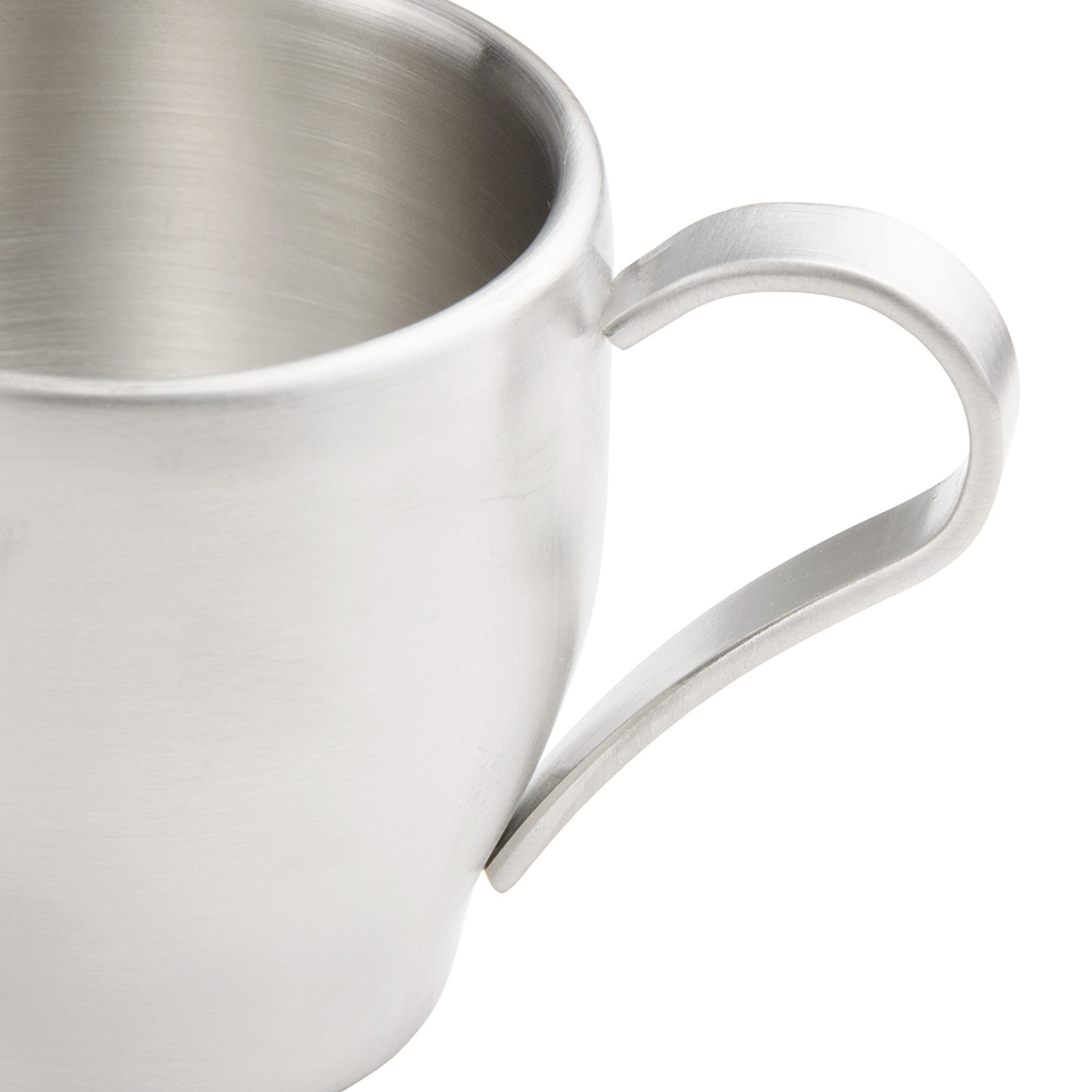World Tableware CC300 3-oz Espresso Cup, Stainless Steel