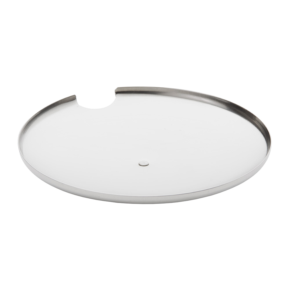 """World Tableware CHS-100 4.12"""" Round Cheese Server w/ 10-oz Capacity & Lid, 18/8-Stainless"""