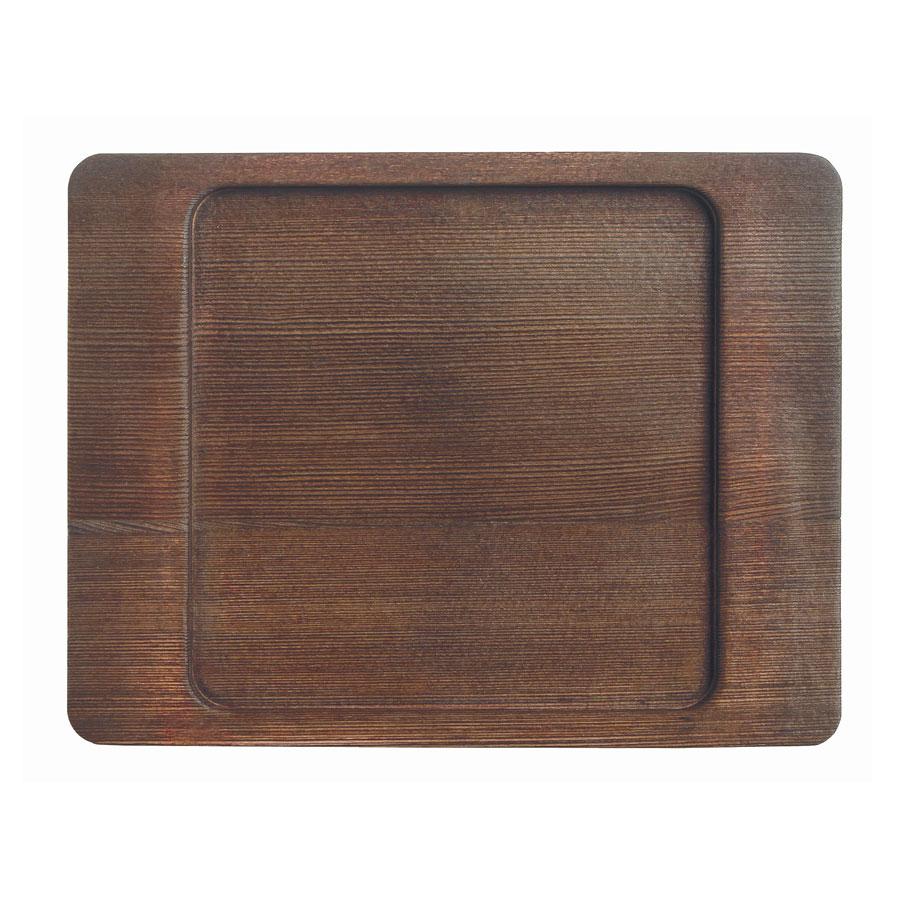 "World Tableware CIS-16TR 7.875"" Square Trivet, Wood"