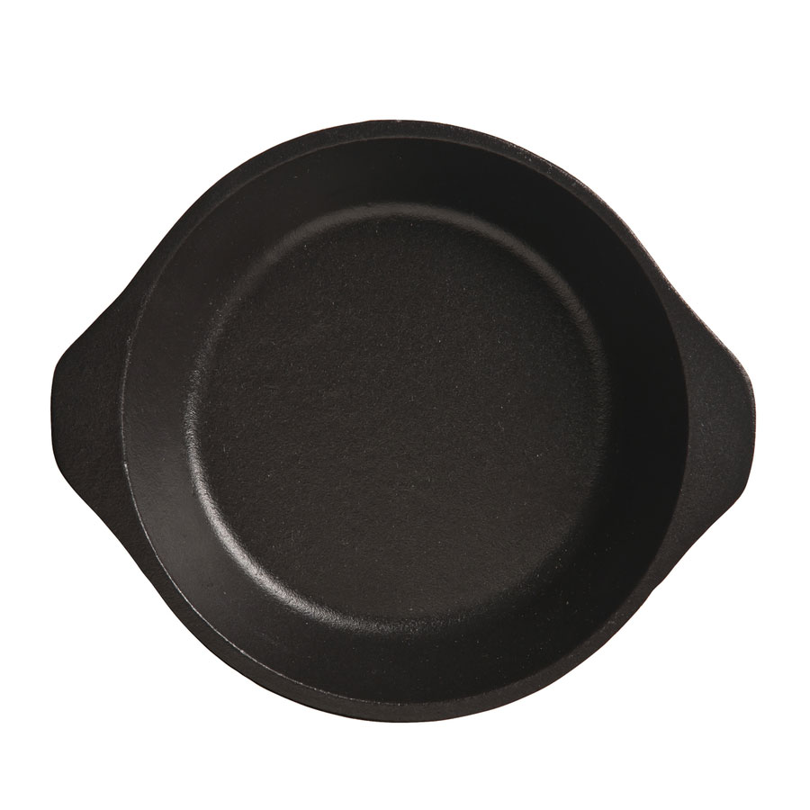 "World Tableware CIS-17 6.5"" Cast Iron Pie Plate, Black"