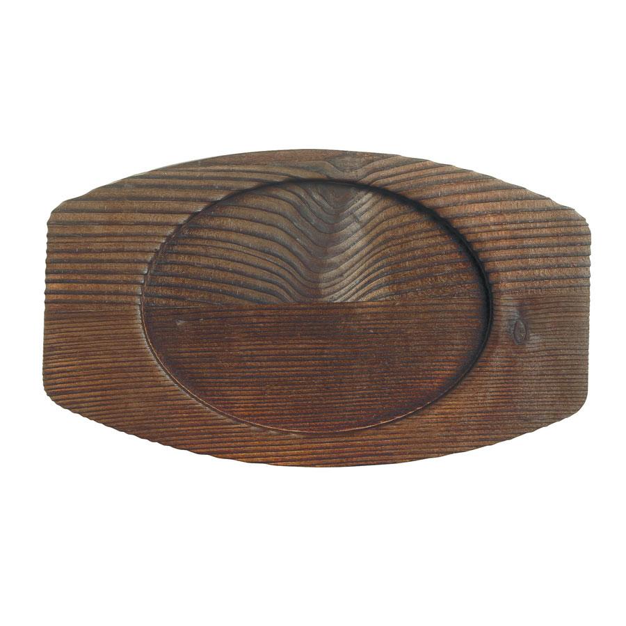 """World Tableware CIS-27TR 7.25"""" Oval Trivet, Wood"""
