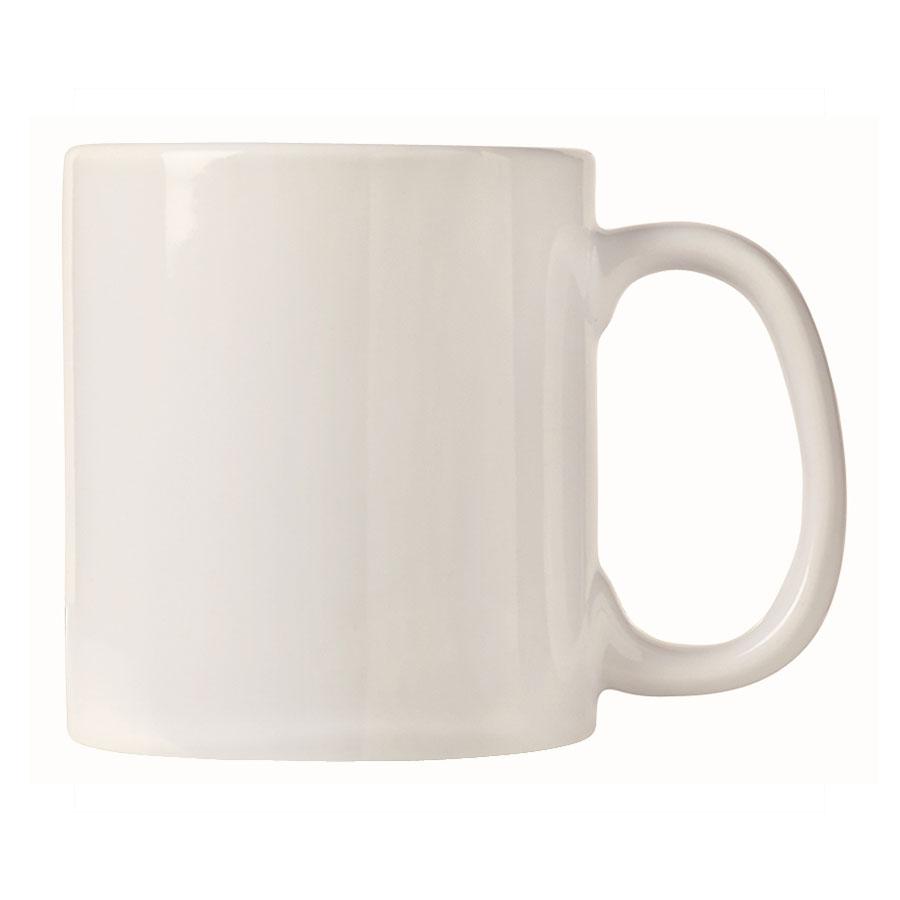 World Tableware CM-16 16-oz Porcelana Mug - Porcelain, Bright White