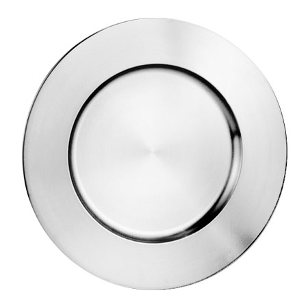 "World Tableware CPB-13 13"" Charger Plate, 18/8-Stainless w/ Brushed Finish"