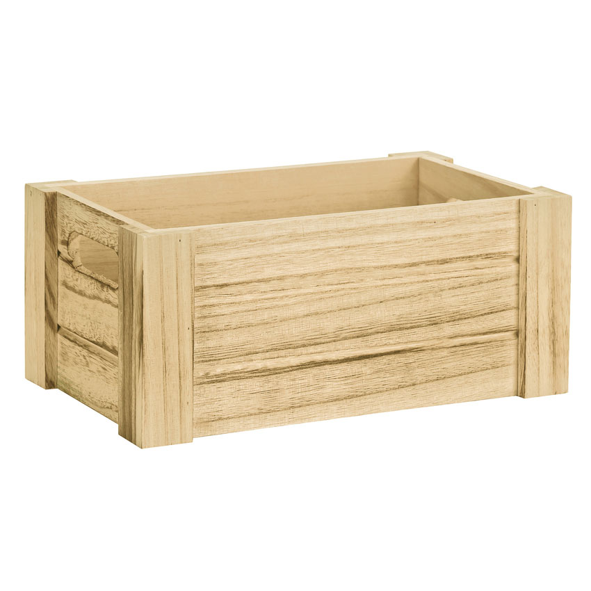 World Tableware CRW-16 Rectangular Wood County Riser with Handles - 10-1/4x6-1/4x4-1/4