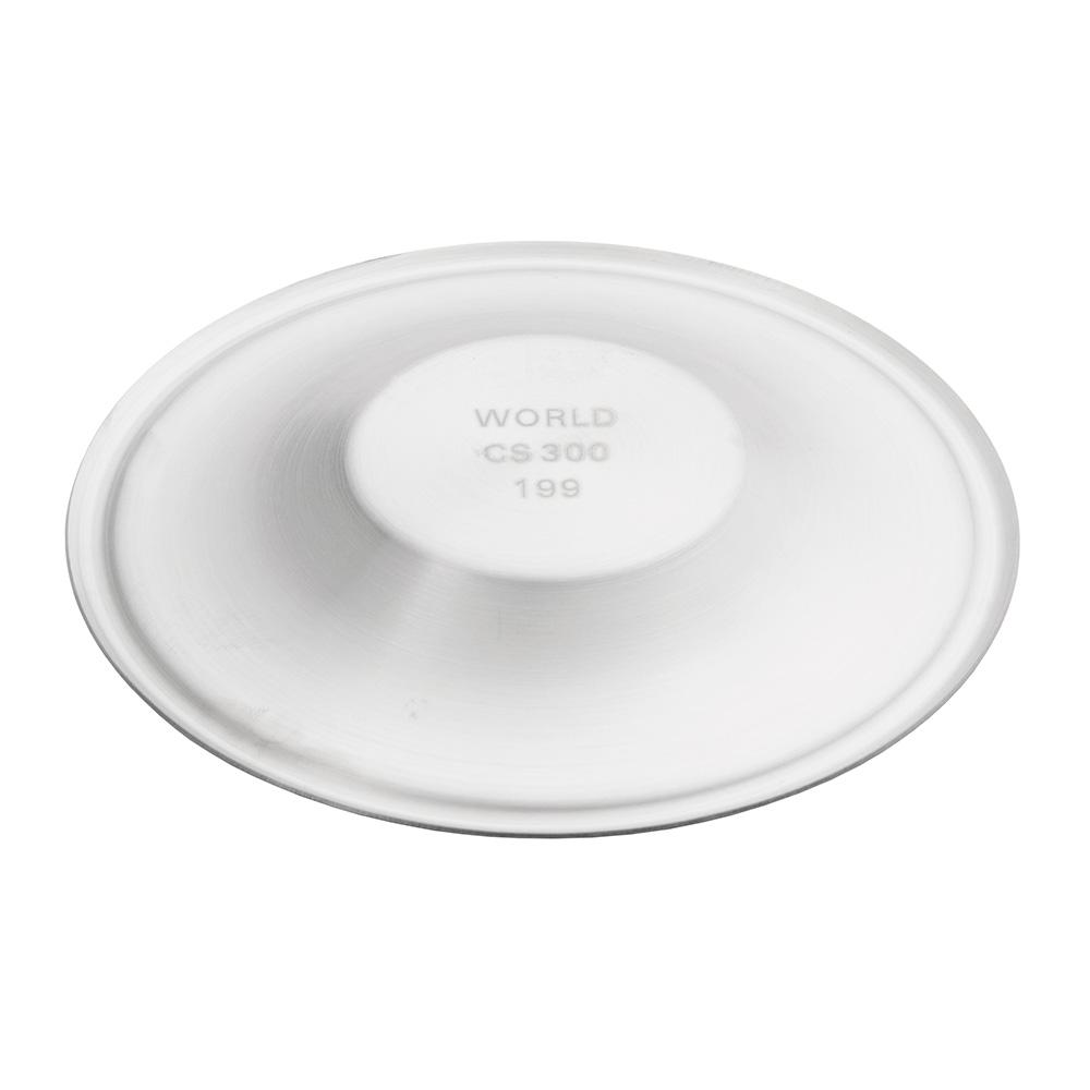 "World Tableware CS300 4-3/4"" Espresso Saucer - 18/8 Stainless"