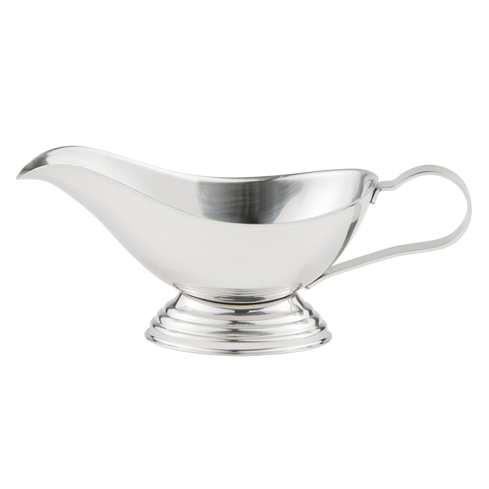 World Tableware CT-126 4-oz Belle Gravy Boat - 18/8 Stainless
