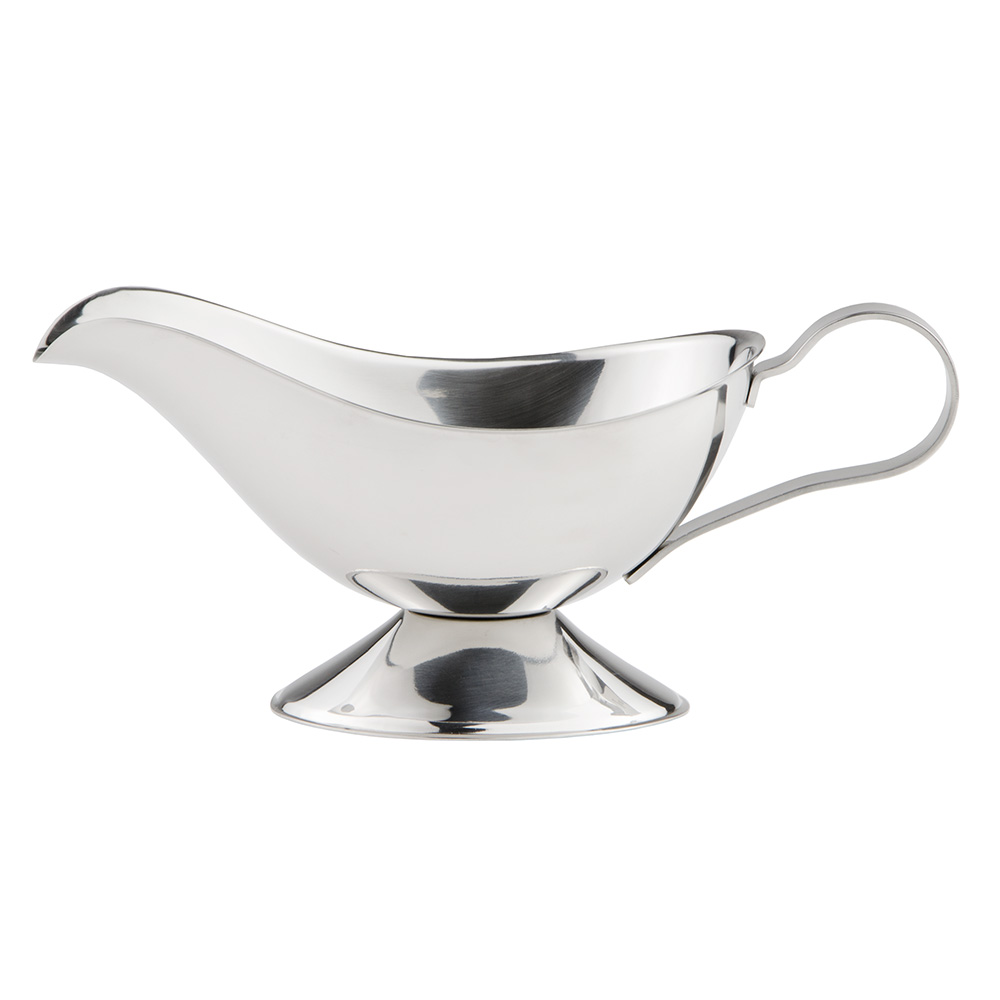 World Tableware CT-127 10-oz Belle Gravy Boat - 18/8 Stainless