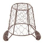 """World Tableware CWB-10 4-3/8"""" Round Wire Basket/Pail - Brown"""