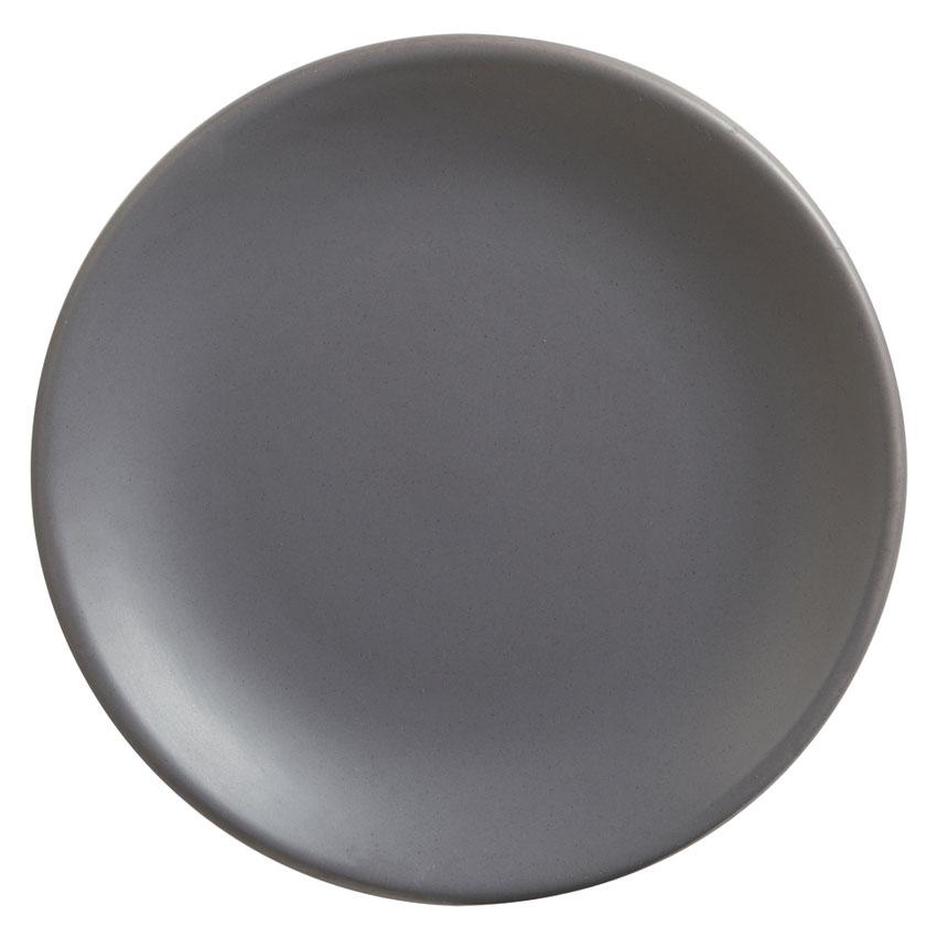 "World Tableware DRI-1-G 6"" Round Driftstone Plate - Porcelain, Granite"