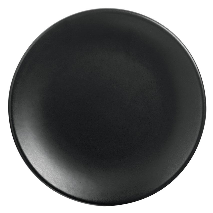 "World Tableware DRI-2-O 9"" Round Driftstone Plate - Porcelain, Onyx"