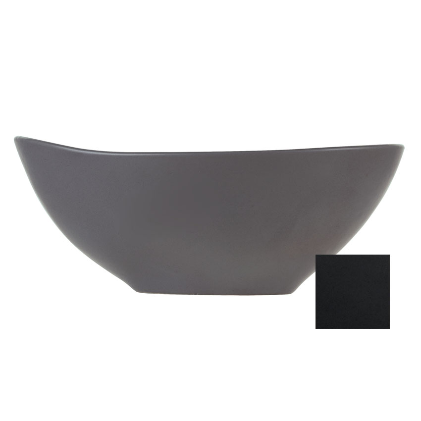 World Tableware DRI-6-O 38-oz Organic-Shaped Driftstone Bowl - Porcelain, Onyx