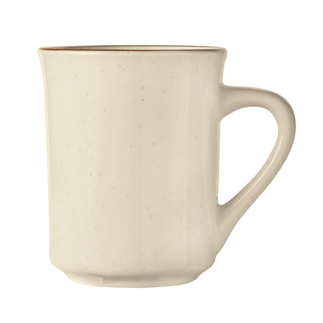 World Tableware DSD-17 Desert Sand Mug - Speckled, (1) Brown Bands