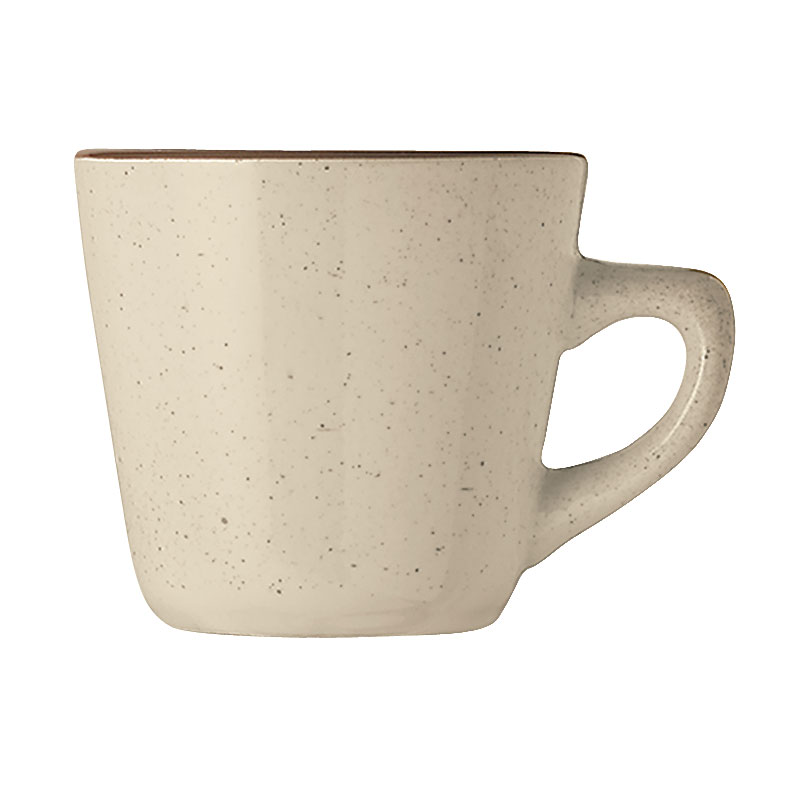 World Tableware DSD-1 Desert Sand Cup - Speckled, (1) Brown Band