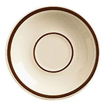"World Tableware DSD-2 6"" Desert Sand Saucer - Speckled, (2) Brown Bands"