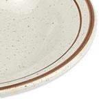 """World Tableware DSD-3 8.75"""" Desert Sand Soup Bowl - Speckled, (2) Brown Bands"""