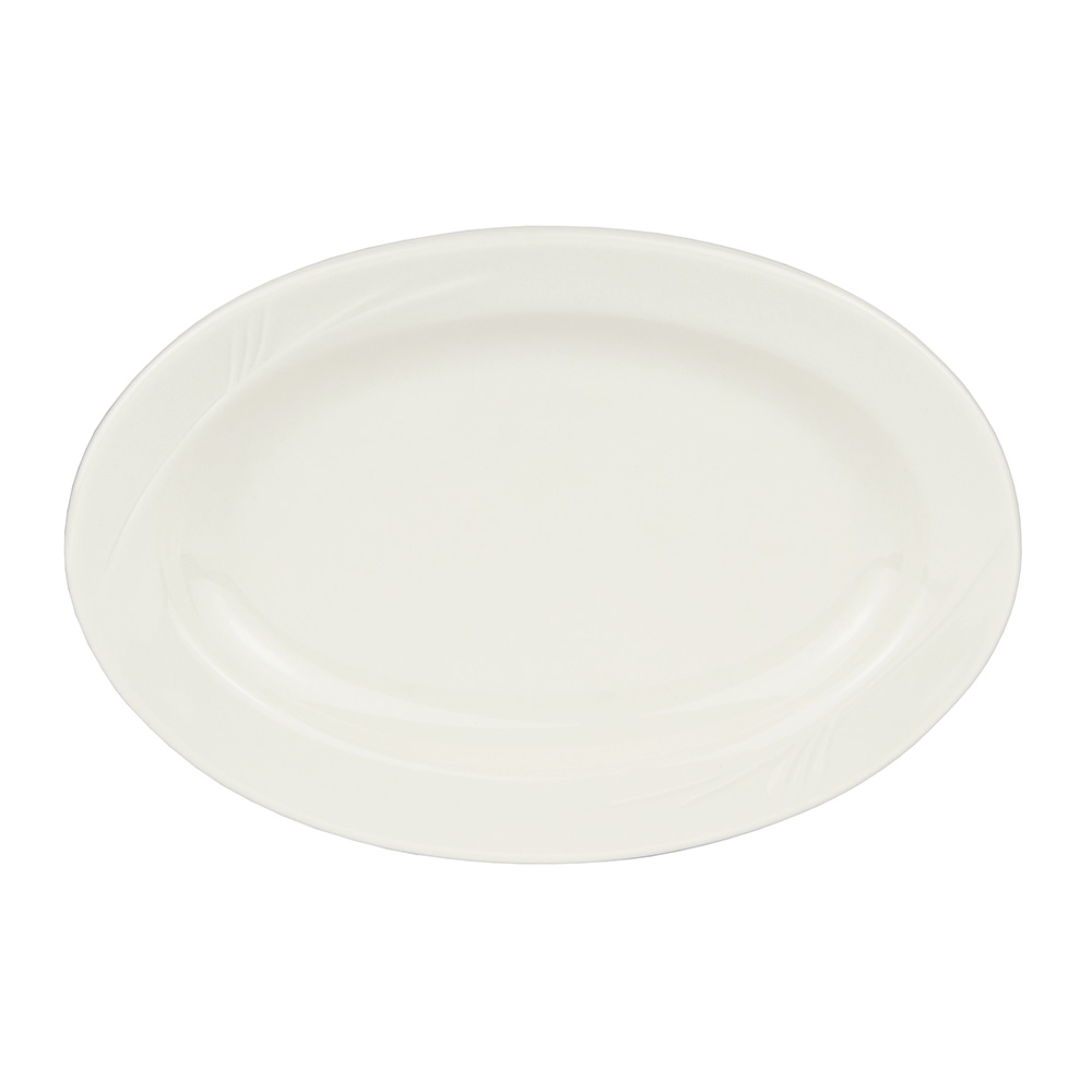 "World Tableware END-30 9.75"" Porcelain Platter, Porcelana, Endurance"