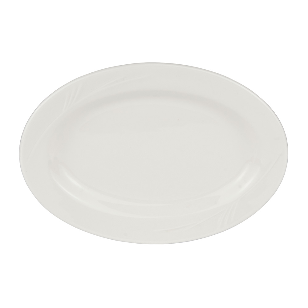 "World Tableware END-32 11.75"" Porcelain Platter, Porcelana, Endurance"
