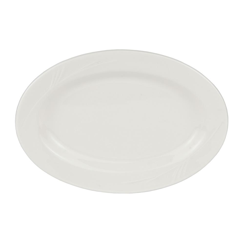 """World Tableware END-34 13.5"""" Porcelain Platter, Porcelana, Endurance"""