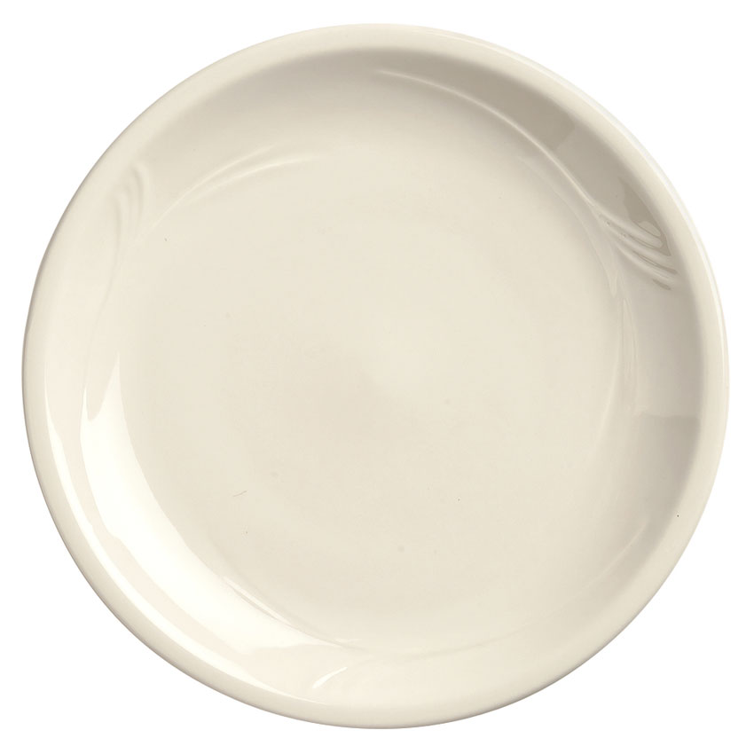"World Tableware END-43 9"" Porcelana Round Pellet/Induction Plate - Porcelain"