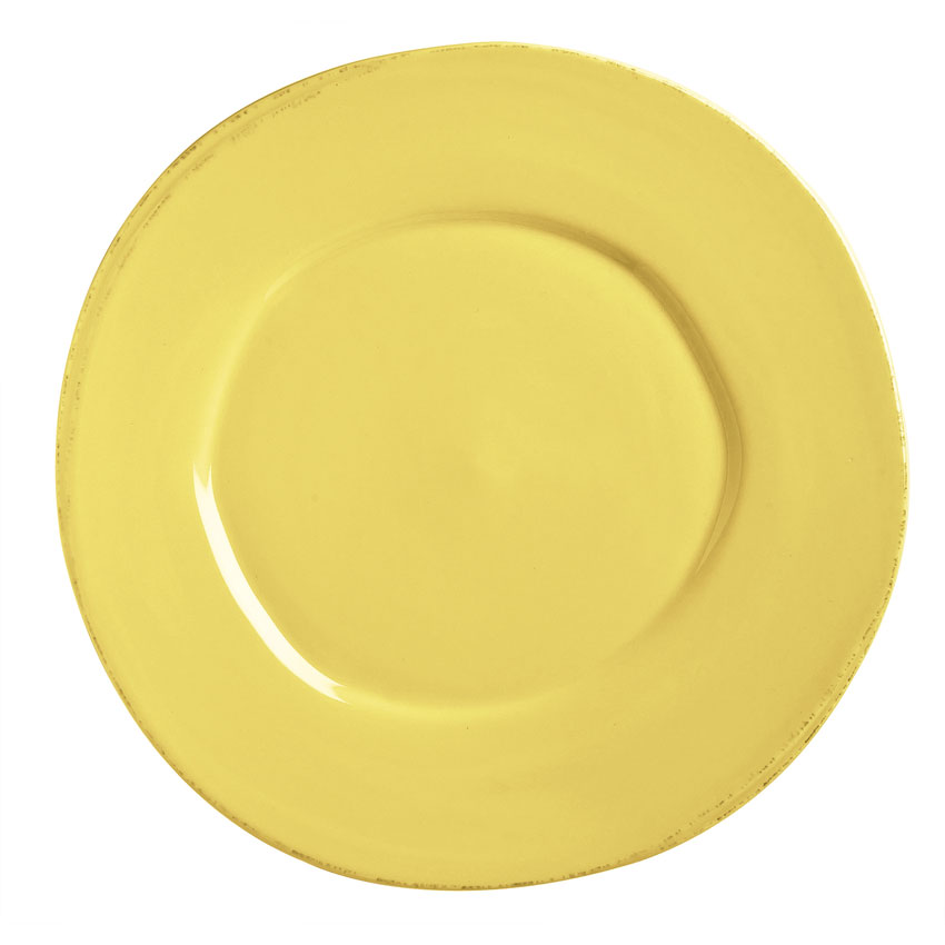 "World Tableware FH-500B 6-3/8"" Round Porcelain Plate - Butter Yellow"