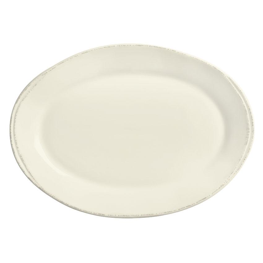 "World Tableware FH-508 Oval Platter - Ceramic, Cream White, 12-1/2 x 9"""