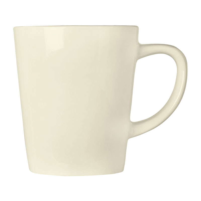"World Tableware FH-517 12 oz Mug - Ceramic, Cream White, 4"" H"
