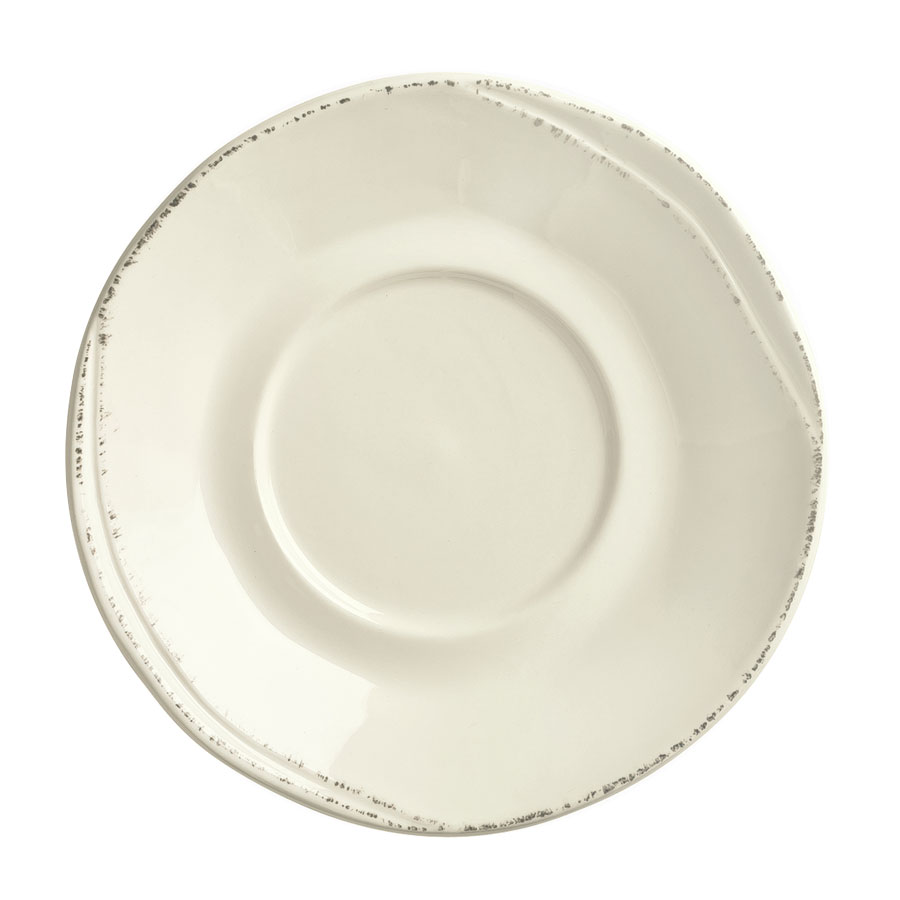 "World Tableware FH-519 6-1/4"" Saucer - Ceramic, Cream White, Round"
