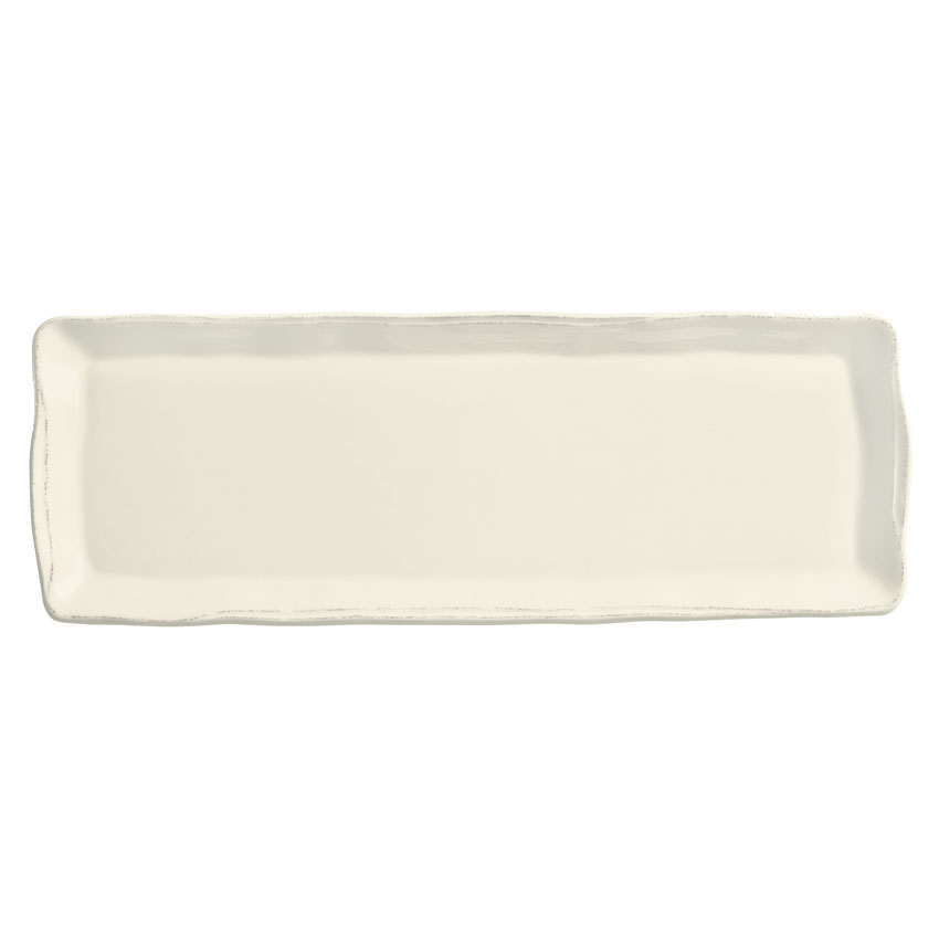 World Tableware FH-529 Rectangular Tray - Ceramic, Cream White, 16 x 5-3/4""