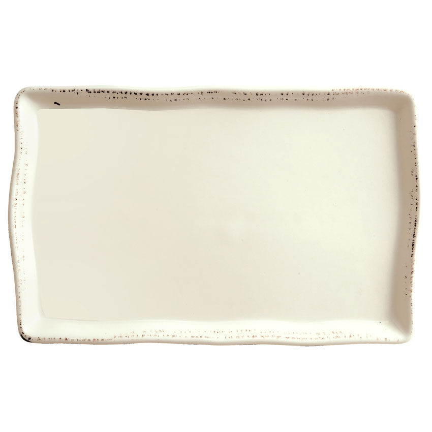 "World Tableware FH-711 Farmhouse Rectangle Tray - 7"" x 11"", Porcelain, Cream White"