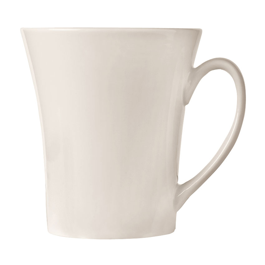 World Tableware FM-15 15-oz Flairique Mug - Porcelain, Bright White