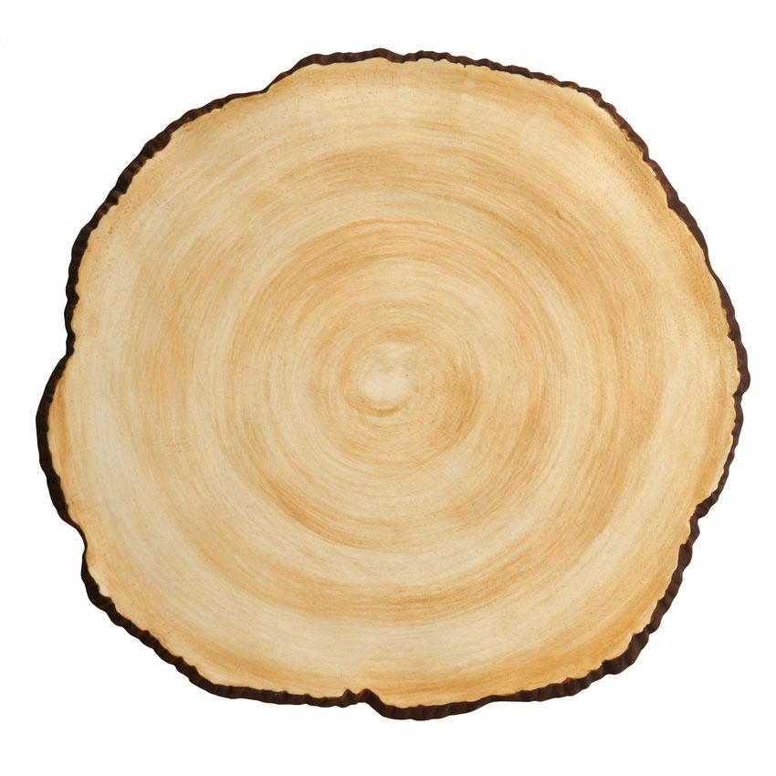"World Tableware FWS-15 8.5"" Faux Wood Slice"
