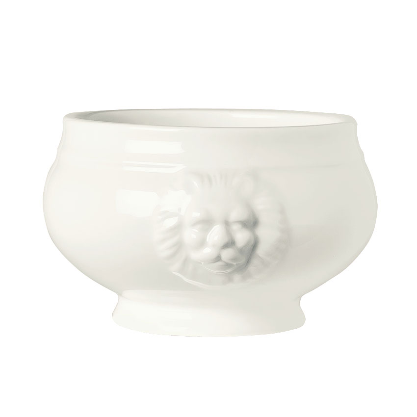 World Tableware LH-12 12-oz Lions Head Soup Bowl - Porcelain, Ultra Bright White