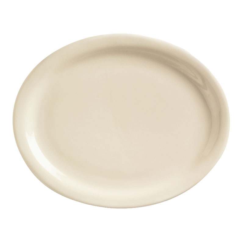 World Tableware NR-12 Cream White Narrow Rim Platter, Kingsmen Ultima, Oval