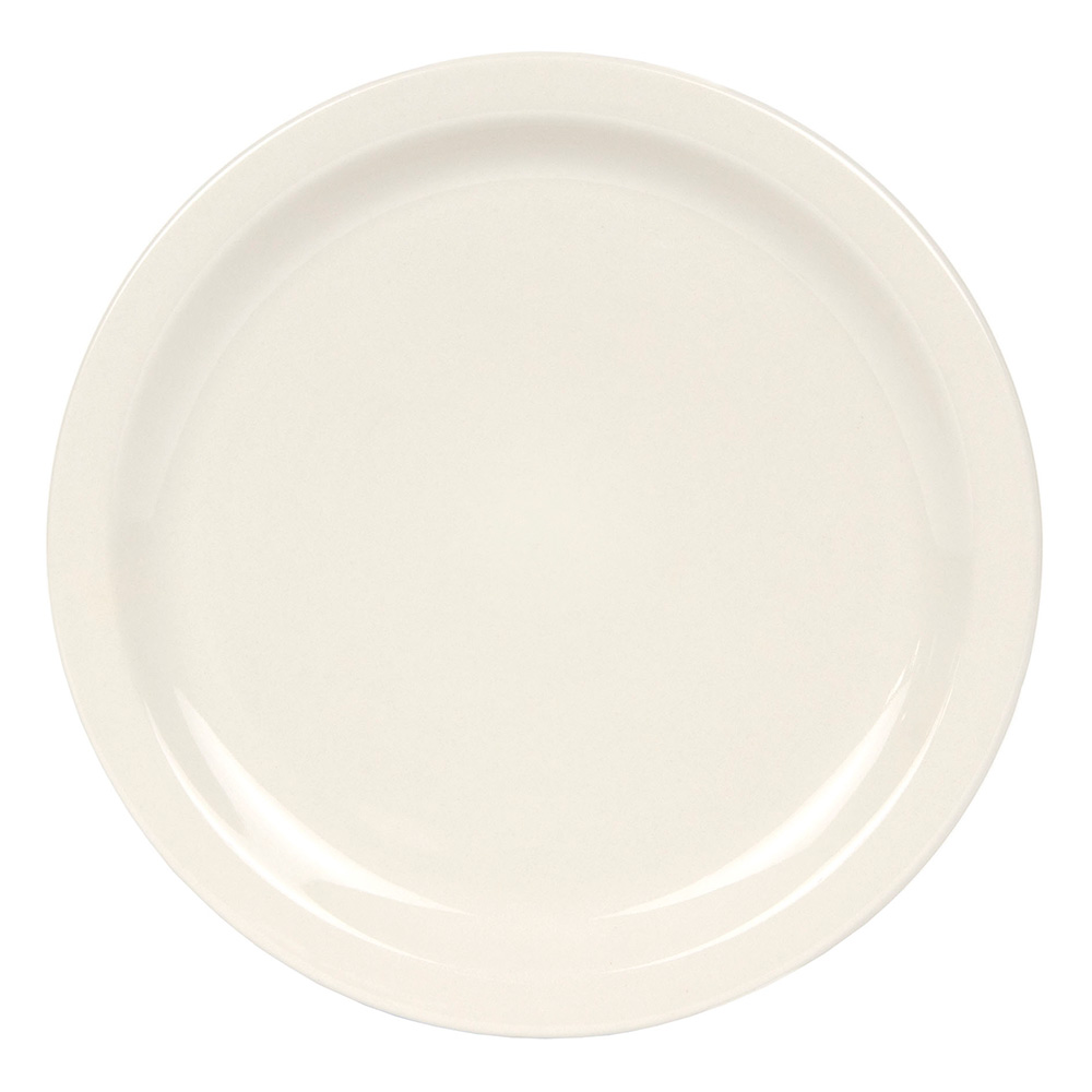 World Tableware NR-16 Cream White Narrow Rim Plate, Kingsmen Ultima, Round