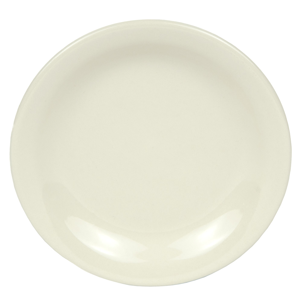 "World Tableware NR-6 6.5"" Plate w/ Narrow Rim, Cream White, Kingsmen Ultima"