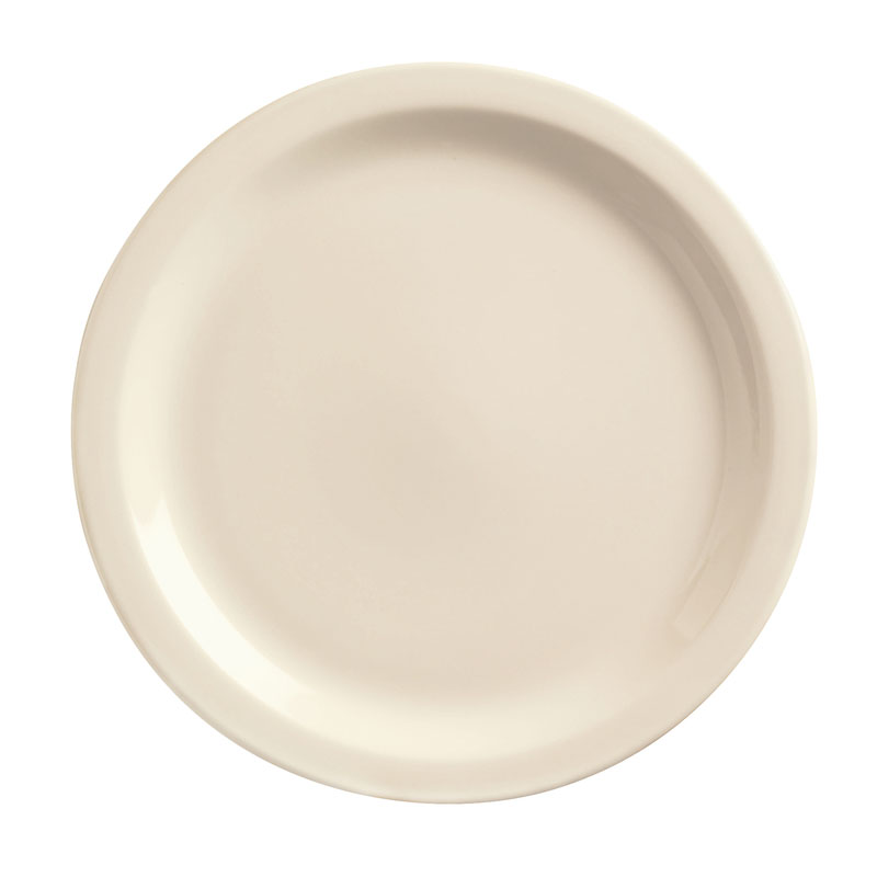 World Tableware NR-8 Cream White Narrow Rim Plate, Kingsmen Ultima, Round