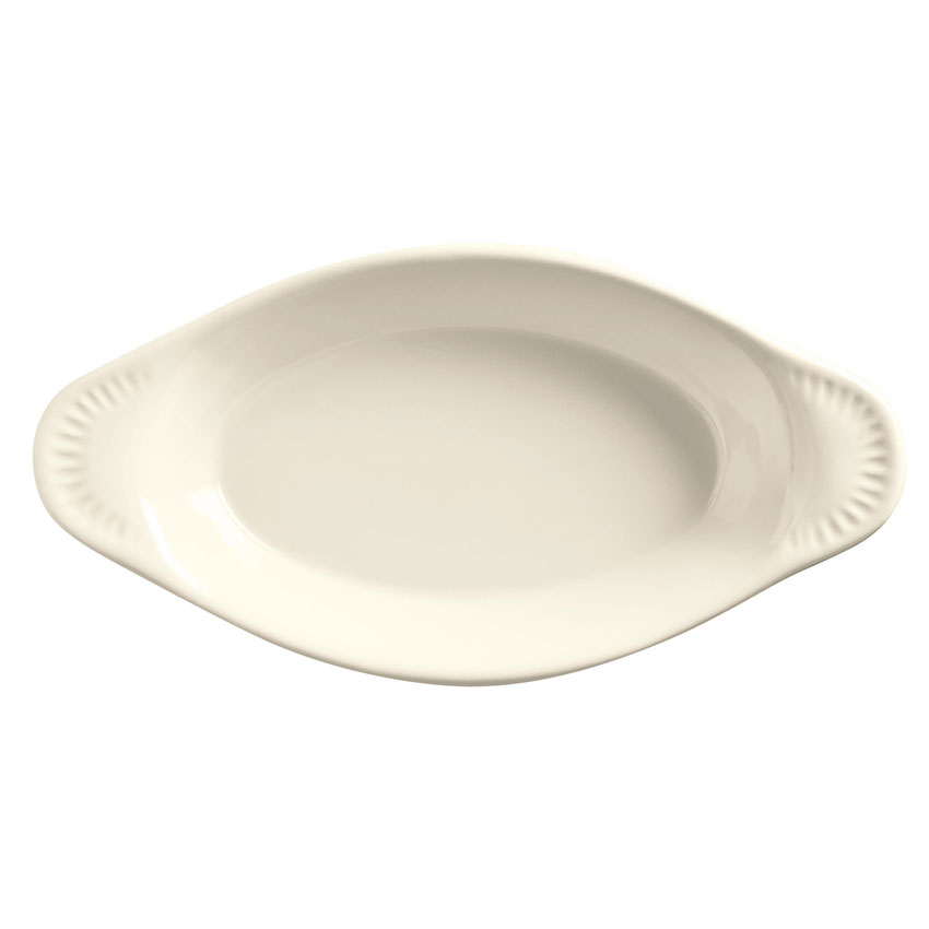 World Tableware OAG-12-WW 12-oz Oval Welsh Rarebit, White, Bedrock Ovenware, Ultima