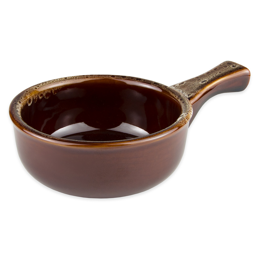 World Tableware OSC-15-H 12-oz Onion Soup Crock w/ Handle, Caramel/Beige, Bedrock Ovenware, Ultima