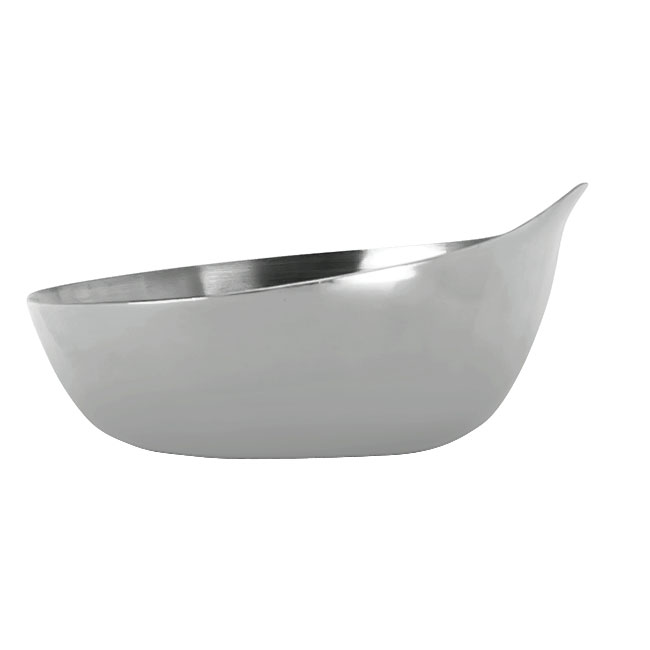 World Tableware PB-1 3.5-oz Pyramid Bowl, Polished Stainless