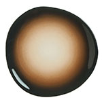 "World Tableware PEB-5-T 8.38"" Organic-Shaped Pebblebrook Plate - Porcelain, Tiger"