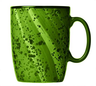 """World Tableware PTG-501 13-1/2 oz Green Mug - Ceramic, 4-1/4"""" H"""