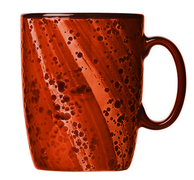 "World Tableware PTR-501 13-1/2 oz Rust Mug - Ceramic, 4-1/4"" H"