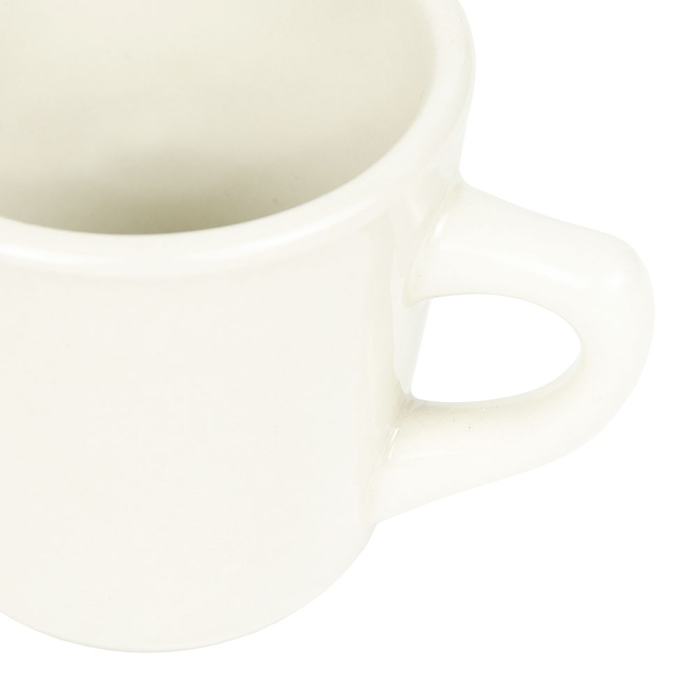 World Tableware PWC-1 Cream White Rolled Edge Cup, Princess Ultima, Round