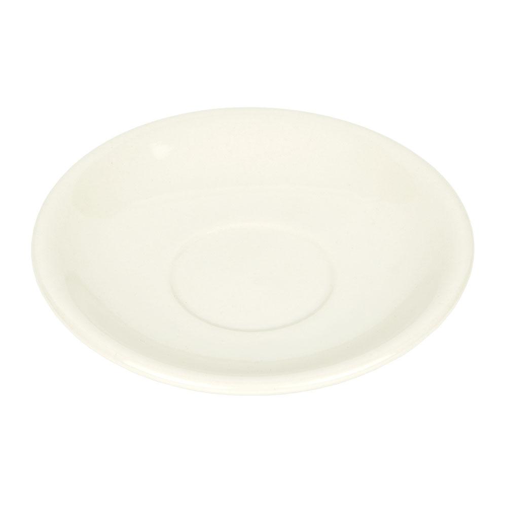 World Tableware PWC-2 Cream White Rolled Edge Saucer, Princess Ultima, Round