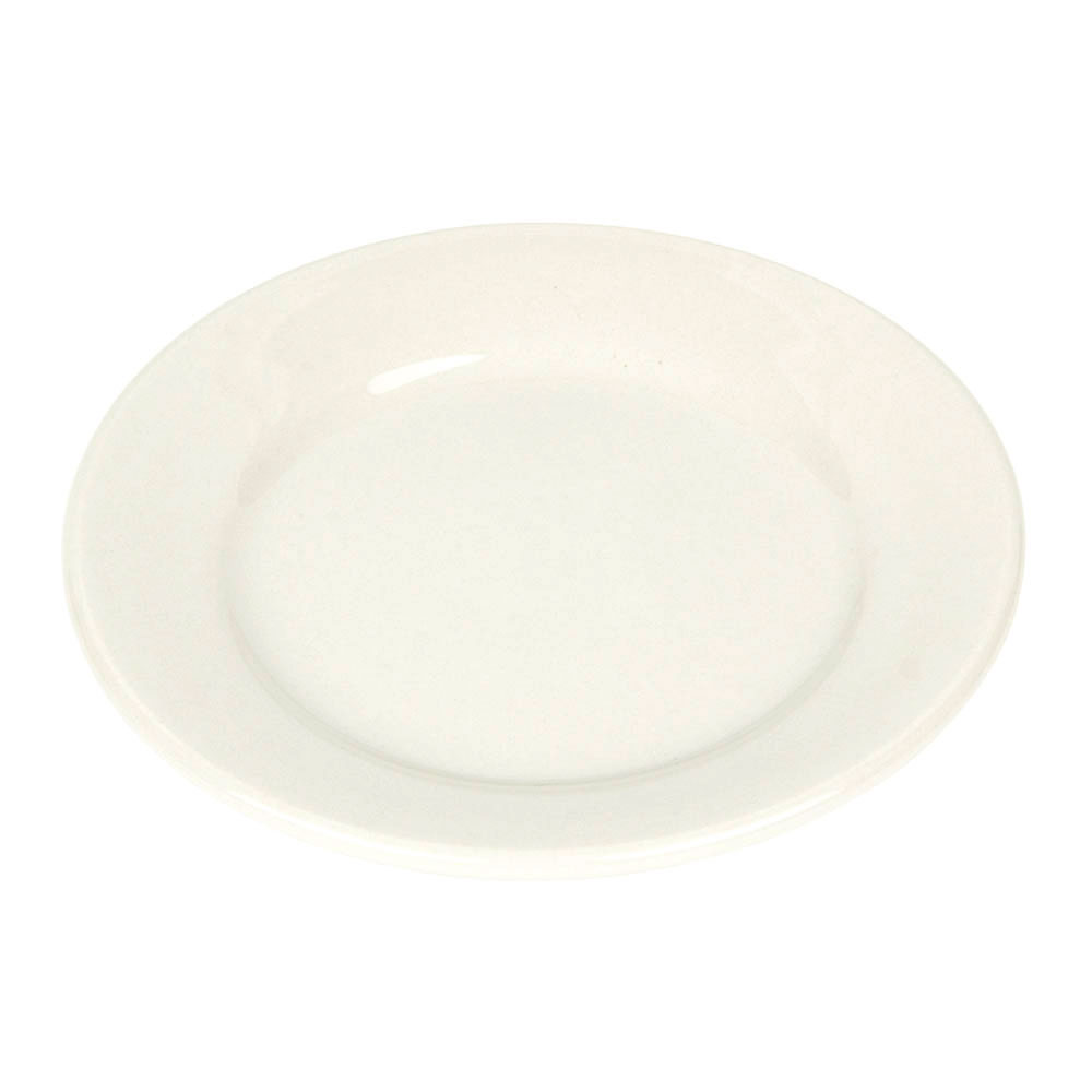 World Tableware PWC-31 Cream White Rolled Edge Plate, Princess Ultima, Round