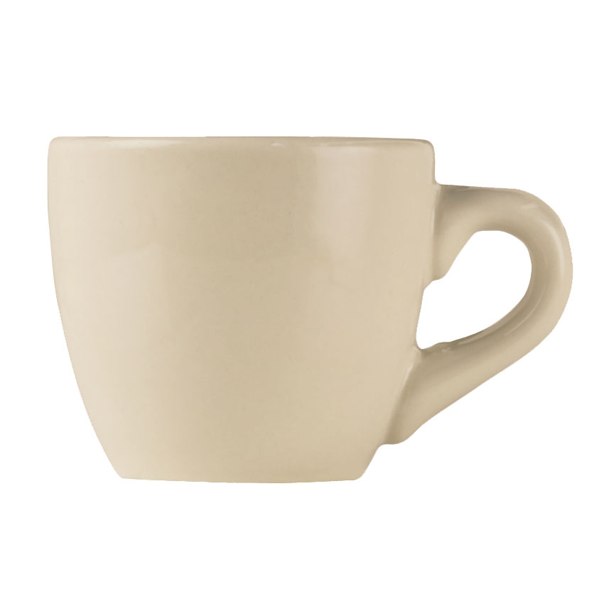 World Tableware PWC-35 Cream White Rolled Edge Demitasse Cup, Princess Ultima, Round