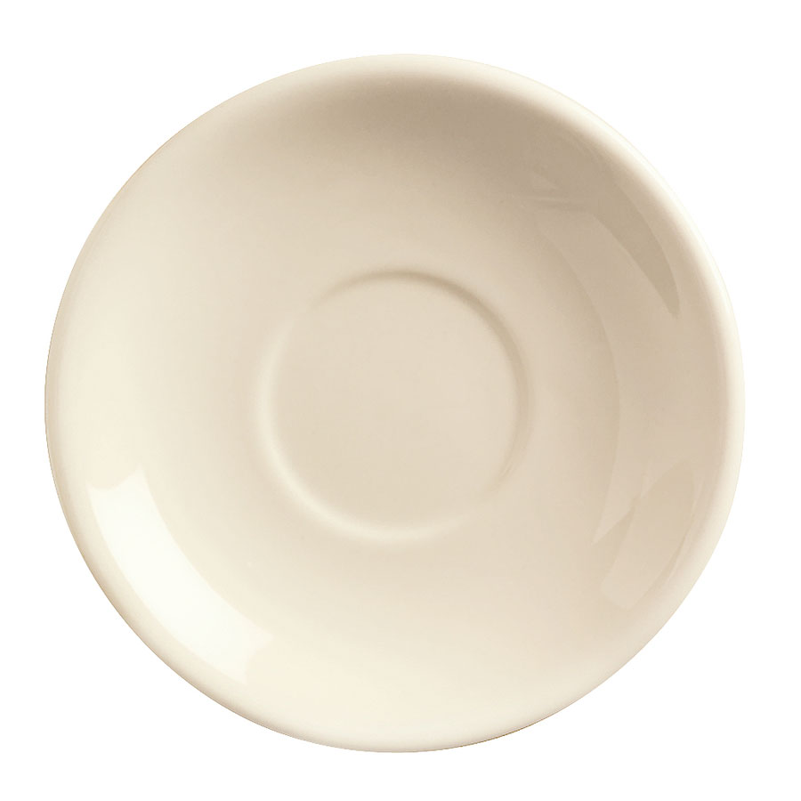 World Tableware PWC-36 Cream White Rolled Edge Demitasse Saucer, Princess Ultima, Round