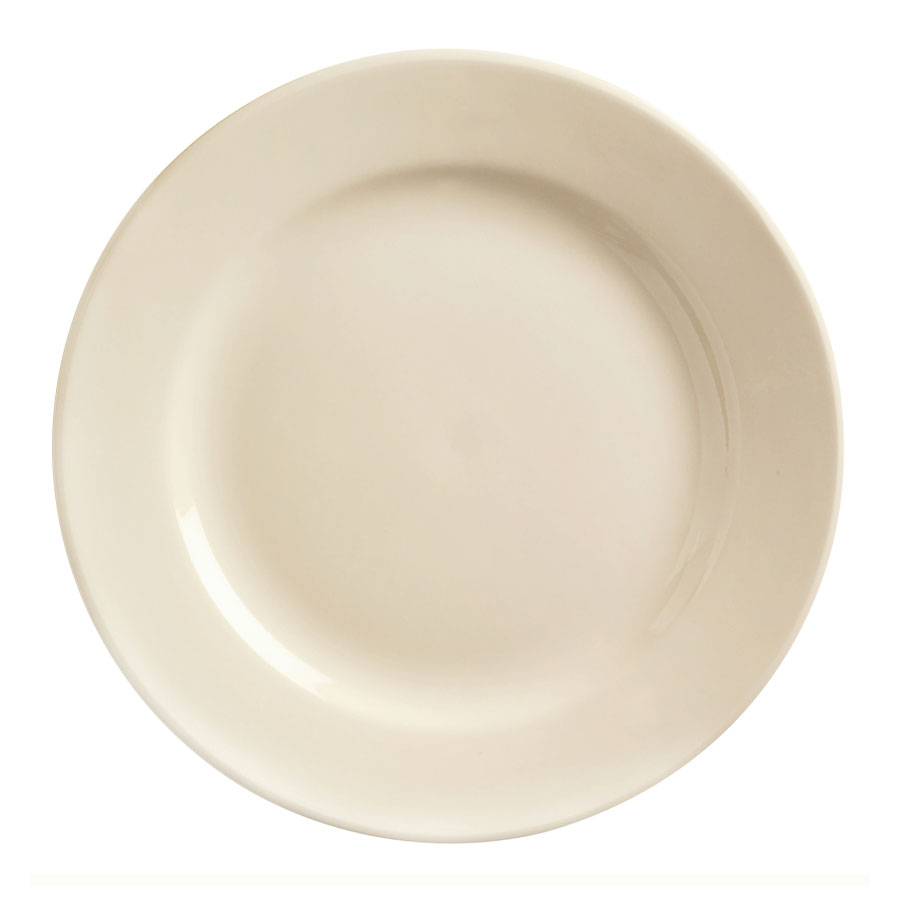 World Tableware PWC-45 Cream White Rolled Edge Plate, Princess Ultima, Round